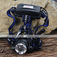 Lights Headlamps LED 1200 Lumens 3 Mode Cree XM-L T6 18650 Camping/Hiking/Caving / Cycling/Bike / Climbing Aluminum alloy