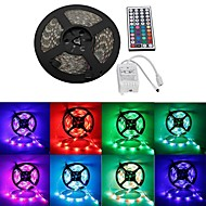 Waterproof 5M 300x3528 SMD RGB LED Strip Flexible Light + RGB 44Key Remote Control(DC12V)