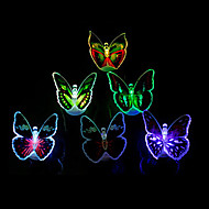 12PCS Luminous Colorful LED Butterfly Light(Random Colors)