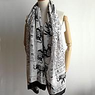 vrouwen olifant afdrukken sjaal