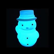 disegno pupazzo di neve di natale luce di notte di plastica (x1pcs colore casuale)