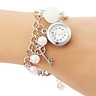Damskie Modny Zegarek na bransoletce Kwarcowy Stop Pasmo Perły Biały White