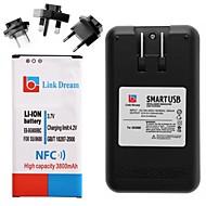 Link Traum Handy-Akku mit NFC + Ladegerät + 3 x Adapter für Samsung Galaxy s5 9600 (3800 mAh)