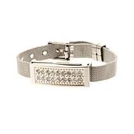 zp 32gb Armband Muster silbernen Sockel Kristall-Schmuck-Stil USB-Stick