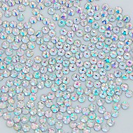 1400PCS 2MM Glitter Crystal AB Rhinestone Nail Art Decoration
