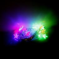 4m 20 leds julen halloween dekorative lys festlige lysstofrør-femtakkede stjerne (220V)
