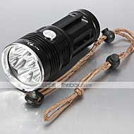 LT-BG T6 New Design 3-Mode 6×Cree XML-T6 (6000LM,2/ 3/ 4 x 18650,Black/Gold)