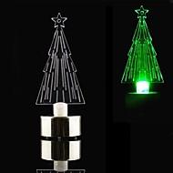 LED kaars stijl kleurrijke mini desktop kerstboom - cr2032 inbegrepen