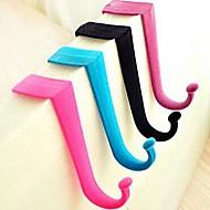 2 PCS Wool Material of Door Back Type Multifunctional Hook(Random Color)