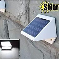 mlsled® 0.6W 4 led bianco mini impermeabile solare recinzione / lampada da parete alimentato / giardino - bianco