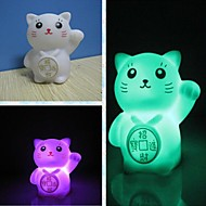 3pcs Creative Romantic Gift Maneki Neko Colorful LED Nightlight