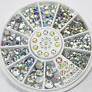 blandad storlek glitter ab akryl strass nail art dekorationer
