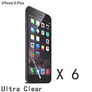 High Quality Clear Screen Protector for iPhone 6S/6 Plus (6 pcs)