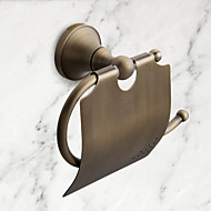 "Toilet Paper Holder Antique Brass Wall Mounted 75 x 195mm (2.95 x 7.68"") Brass Antique"