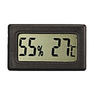 LCD Indoor Outdoor digitaalinen lämpömittari lämpömittari mittari Musta