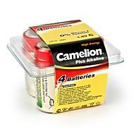 Camelion mais alcalino c tamanho da bateria em caixa de plástico de 4 pcs