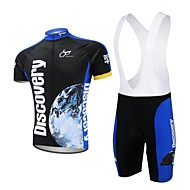 Ensemble de Vêtements/Tenus / Cuissard  / Short / Mailliot (Bleu Foncé) de Cyclisme/Vélo - Séchage rapide / Pocket Retour  à Manches