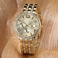 Women's Watch Fashion Sparkle Diamante Luxury Gold Dial Wrist Watch Cool Watches Unique Watches