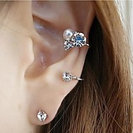 Shining diamond earrings(2 pieces)