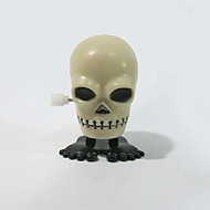 Halloween Gifts Supplies Plastic on Chain Jumping Skull Tricky Toy