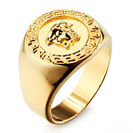 Famous 18K Gold Plated Stainless Steel Men's Ring