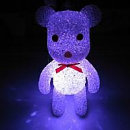 cristal eva ours couleur lumière changeante de nuit