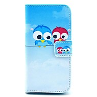Coco fun® söpö ihana pöllö kuvio PU nahka koko kehon tapauksessa näytönsuoja iPhone 5c