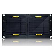 Výstup rozhraní USB 7w skládací přenosné solární nabíječky Externí baterie pro Samsung Nokia Sony htc atd