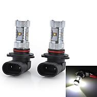 High Power 9005/H4/H7 30W 2000LM Cool White Light 6-Cree LED Car Fog / Head Light (12V / 2pcs)