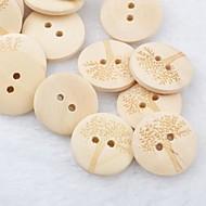Stablo uzorak spomenar scraft šivanje DIY drvene tipke (10 komada)