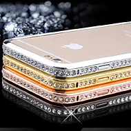 Diamand Inlay Alloy Bumper Frame for iPhone 6 (Assorted Color)