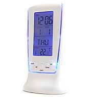raufende Luxus führte elektronische Uhr bunte Thermometer Bildschirm Wecker Schlummer faul Nachtlicht