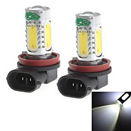 H11 20W 1900LM 6000-6500K White Light Bulb for Car Fog Light (12-24V,2 Pieces)