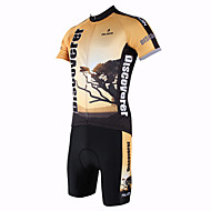 Le coucher du soleil de printemps et d'été style Lycra et Polyester manches courtes vélo Costumes PaladinSport hommes