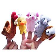 5PCS The Little Red Hen Story Plush Finger Puppets Kids Talk Prop