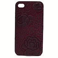 3d rompere le casse del telefono rose in rilievo per iphone 4 / 4s (colori assortiti)