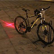 UNGROL Red Cross Design 1 Laser Module 6 LED 6 Flash Mode Black Bike Warning Laser Light