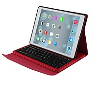 rode ultradunne bluetooth toetsenbord lederen case voor Apple iPad 5 / ipad lucht 9.7 ""