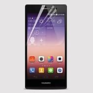 [5 szt] profesjonalny wysokiej przejrzystości lcd krystalicznie czysta Screen Protector z ściereczka do czyszczenia Huawei Ascend P7