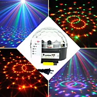 6x3w RGB LED mp3 DJ klubi pub disco puolue kristalli magic pallo vaiheessa laservalon (ac100-240v)