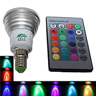 Zweihnde E14 4 W 1 Integrate LED 220-250 LM RGB BA Dimmable/Remote-Controlled/Decorative Spot Lights AC 85-265 V