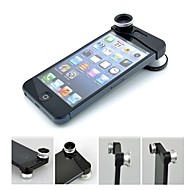 3-in-one Clip-on Style 0.67X Wide Angle Lens and 180°  Fisheye Lens and Macro Lens Set for iPhone 5/5S