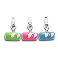 Delux M3BU Mini Wired Retractable Mini Mouse