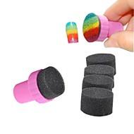 esponjas de nail art mágicos com batedor de carimbo polonês conjunto de ferramentas manicure
