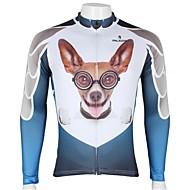 PALADIN אופנייים/רכיבת אופניים ג'רזי / צמרות לגברים שרוול ארוך נושם / עמיד אולטרה סגול / ייבוש מהיר 100% פוליאסטר אנימציה / חיה לבןS / M