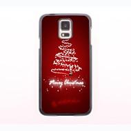 Christmas Tree Design Aluminum Hard Case for Samsung Galaxy S5 I9600