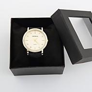 relógio de forma aço ouro marcação diamante das mulheres elegantes personalizados
