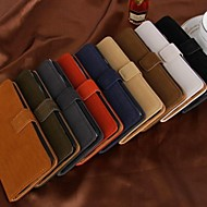 бумажник способа стиль PU кожаный полный корпус кейс с гнездом для платы галактики Samsung i9600 s5