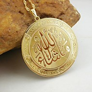 18k oro plateado allah colgante musulmán