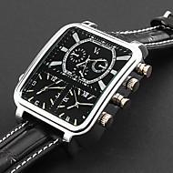 Panoptes argus moda personalizadas - relógio pulseira de couro militar triple-movimento de marcação quadrado dos homens